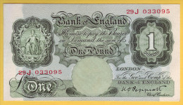 ROYAUME UNI - GRANDE BRETAGNE - Billet De 1 Pound. (1948-49). Pick: 369a. SUP - …-1952 : Before Elizabeth II