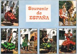 SPAIN, PU-1974; Souvenir De Espana, Flamenco Dancers - Spain