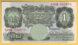 ROYAUME UNI - GRANDE BRETAGNE - Billet De 1 Pound. (1949-55). Pick: 369b. SUP - …-1952 : Before Elizabeth II