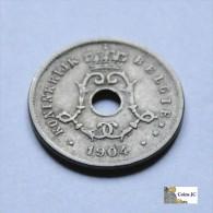 Belgica - 5  Céntimos - 1904 - 1865-1909: Leopold II