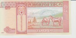 Mongolia P.6 3  20 Tugrik 2013  Unc - Mongolia