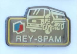 Pin's REY SPAM - Le Logo ELF - Le Camion Citerne - D1264 - Fuels