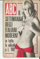 CALENDARIETTO PLASTIFICATO  PUBBLICITARIO - RIVISTA ABC ANNO 1968 - Calendari