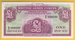 ROYAUME UNI - GRANDE BRETAGNE - Billet De 1 Pound. (1962). Vouchers. Pick: M36a. NEUF - Emissioni Militari
