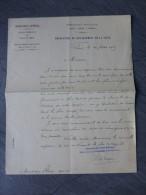 Jacques De Verger, Bibliothèque Paris 1905, Lettre Graveur STERN Pour Remise Plaques Pour Musée ; Ref 986 - Autographes