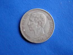 Espagne Spain España 1876 *76 Alfonso XII Rey 5 Pesetas Plata Argent Silver. Buena Conservación V.fotos - Colecciones