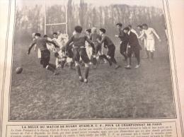 1907 MATCH DE RUGBY STADE FRANCAIS - RC FRANCE / MEETING DE MONACO / MORT DU COMTE DE BYLANDT SAINT MORITZ / BOXE - Journaux - Quotidiens