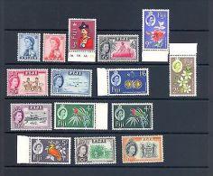 FIJI SG 311-25 3RD Q E II DEFINITVE SET 1962. MNH - Fiji (1970-...)