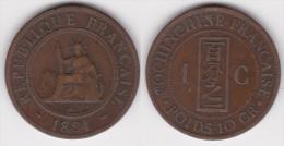 COCHINCHINE : 1 CENT 1884  (voir Scan) - Colonies