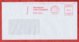 Drucksache, Francotyp-Postalia B66-3030, Westinghouse Fanal-Schaltgeraete, 50 Pfg, Wuppertal 1989 (69158) - BRD