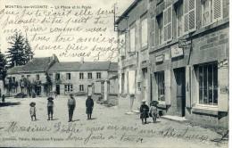 Monteil-au-Vicomte. La Place Et La Poste. - Sonstige Gemeinden