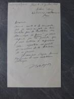 Bulletin Des Dommages De Guerre Juillet 1944, Let Autographe Du Secrétaire De Rédaction, Robert ?;  Ref000 - Autographs