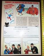 PUB PUBLICITE  TINTIN PAR HERGE GAGNEZ LES SERVIETTES DE PLAGE DUPONT DUPOND - Collections