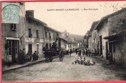 CPA 42 SAINT PRIEST LA PRUGNE  Rue Principale ( Aubergiste PRAS  C/ ST JUST EN CHEVALET ( J30 ) - France