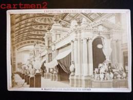 PARIS EXPOSITION UNIVERSELLE 1878 MANUFACTURE DE SEVRES VASE PORCELAINE POTERIE E. ZIEGLER EDITEUR PHOTOGRAPHE - Expositions
