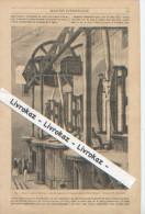 Pompes à épuiser L'air Dans Le Tube Du Chemin De Fer Atmosphérique De Saint-Germain, Dessin De Blanchard, 1851 - Other