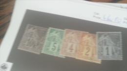 LOT 235785 TIMBRE DE COLONIE GENERALE NEUF* N�46 A 50 VALEUR 37 EUROS