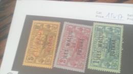 LOT 235787 TIMBRE DE COLONIE WALLIS NEUF* N�15 A 17 VALEUR 31 EUROS