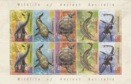 Australia 1997 Wildlife Of Ancient Australia   Sheetlet MNH - Sheets, Plate Blocks &  Multiples