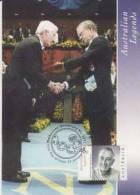 Australia-2002 Australian Legends,45c Peter Doherty, Nobel Price  Maximum Card - Maximumkaarten