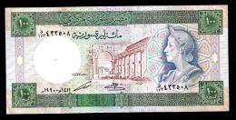 SIRIA (SYRIA)  :  100  Pounds - 1990 - P104d - UNC - Siria