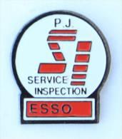 Pin's  ESSO - S.I Service Inspection - P.J - Publiguides - D1281 - Fuels