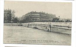 75/ PARIS.. INONDATIONS De PARIS 1910... Le Pont De L'Alma Avec 50 Cm De Flèche Au Niveau De L'eauà La Clef De Voûte - Alluvioni Del 1910