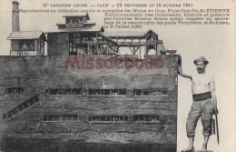 Concours Lépine 1911 (Paris) : Reproduction En Réduction Des Mines Du Cros, Puits Camille, Saint Etienne - Dos Vierge - - Mines