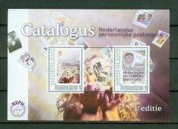 Netherlands Nederland,2V In Block,eerste Catalogus Persoonlijke Zegel,first Catalog ,MNH/ Postf Ris (D2054) - Timbres Sur Timbres