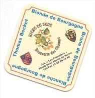 Sous-bock, Bières De Bourgogne, Brasserie Des Champs. - Sous-bocks