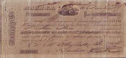 *E348 CUBA SPAIN BANK BILL OF EXCHANGE 1869 BANCES Y C ESPAÑA - Bills Of Exchange