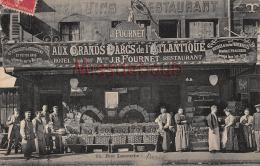 PARIS - Hotel Restaurant J.B. FOURNET - Aux Grands Parcs De L'atlantique - 14 Rue Lecourbe   -  2 Scans - Pubs, Hotels, Restaurants