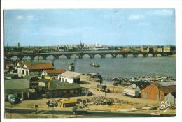 Cp, 33, Bordeaux, Le Pont De Pierre Pris Depuis Le Nouveau Pont St-Jean, Voyagée 1966 - Bordeaux