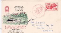 Australia 1963 Melbourne Philatelic Exhibition Signed Souvenir Cover - Australia