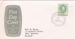 Australia 1964 Flowers Wattle Post Office FDC - FDC