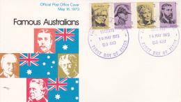 Australia 1973 Famous Australians Post Office FDC - FDC