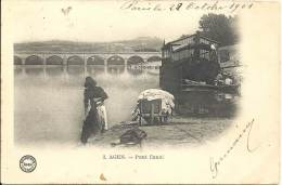 47 - AGEN - Lot-et-Garonne - Pont Canal - Lavandière - Agen