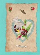 Poisson D´avril Découpis Coeur Bouquet De Fleurs - Autres