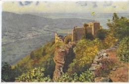 Baden-Baden - Altes Schlob - Illustration H. Hoffmann