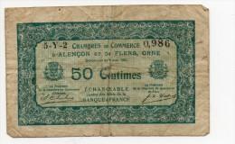 Alençon Et De Flers, Orne - 50 Centimes 1923 - Camera Di Commercio