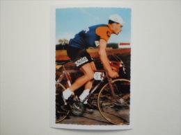 CYCLISME CICLISMO RADSPORT WIELRENNEN :  POULIDOR En Danseuse Carte Miroir Sprint Couleur   Reproduction - Cycling