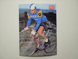 CYCLISME CICLISMO RADSPORT WIELRENNEN :  POULIDOR Cliché Encart Miroir Du Cyclisme Couleur  Reproduction - Cycling