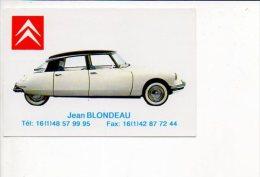 """Carte De Visite Publicitaire """"Jean Blondeau,Agent CitroënSpéc.DS """" à Montreuil ,Rue De Paris - Cartes De Visite"""
