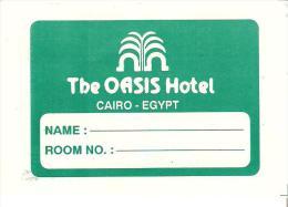 ETIQUETTE VALISE HOTEL OASIS LE CAIRE CAIRO EGYPTE - Hotel Labels