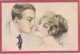 COUPLE  D´AMOUREUX   -( Signé  A.  Busi ) - Busi, Adolfo