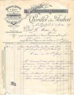 49 804 LES PONTS DE CE MAINE ET LOIRE 1892 Chanvres Lins Cordages CHEVILLER Et JOUBERT à MATHIAS EUG. De MARENNES - France