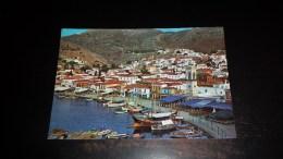C-21577 CARTOLINA HYDRA ISLAND TAPA - PARTIAL VIEW OF THE TOWN AND HARBOUR - PORTICCIOLO BARCHE - Grèce