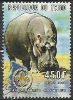 Ciad 2000, Animali: Ippopotamo (o) - Ciad (1960-...)