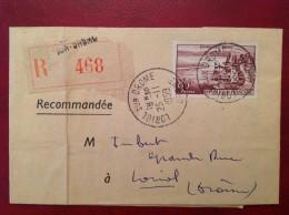 Lettre Recommandée LORIOL SUR DROME 1959 - 1921-1960: Période Moderne