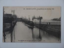 94 CHOISY LE ROI  INONDATIONS  LE RAPIDE DE LIMOGES Locomotive Train - Choisy Le Roi